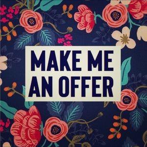 Make an offer! I'm 100% negotiable 😊